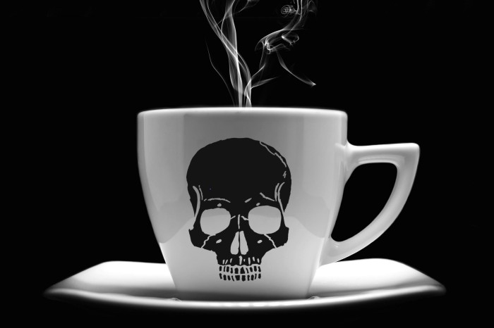 cup-of-coffee skull